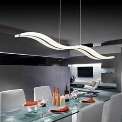 40W Modern/Contemporary LED Chrome Pendant Lights Living Room / Bedroom / Study Room/Office / Kids Room