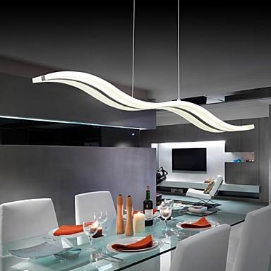 40w Modern Contemporary Led Chrome Pendant Lights Living Room Bedroom Study Office Kids