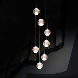 Modern Pendant Lights Pendant Lamp G4 Retroifit 7 Lights Chrome Plating Crystal for Dining Room Stairs Light