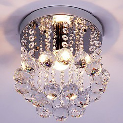 Flush Mount K9 Crystal / Mini Style Modern Chandelier