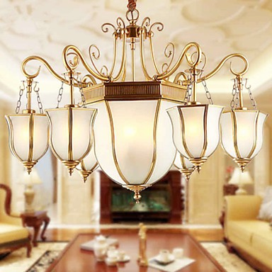 Chandeliers LED / Bulb Included Traditional/Classic / Rustic/Lodge Living Room / Bedroom Metal