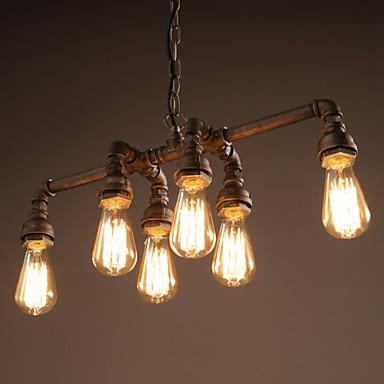 Edison Retro Loft Style Vintage Industrial Pendant Light Lamp Metal Water Pipe,Luminaire Lampara Colgantes