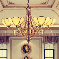 5W Traditional/Classic / Rustic/Lodge LED / Bulb Included Brass Metal Chandeliers Living Room / Bedroom
