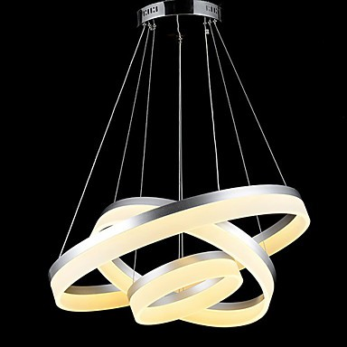 Round Led Pendant Lights Modern Acrylic Lamps Lighting Luxurious Three Rings Ceiling Fixtures