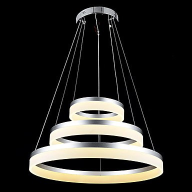 Round LED Pendant Lights Modern Acrylic Lamps Lighting Luxurious Three Rings Ceiling Lights Fixtures