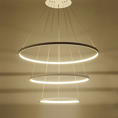 Modern Design/90W LED Pendant Light Three Rings /Fit For Showroom,Living  Room