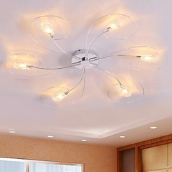 Max 10W Modern/Contemporary Bulb Included Electroplated Chandeliers / Flush Mount Living Room / Bedroom / Dining Room