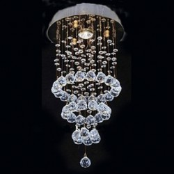 Max 35W Modern/Contemporary Crystal Electroplated Metal Flush Mount Living Room / Bedroom / Dining Room