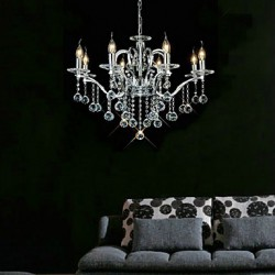 Elegant Crystal Chandelier with 8 Lights