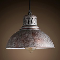 Retro Mini Style Painting Metal Pendant Lights Study Room/Office / Entry / Hallway / Outdoors