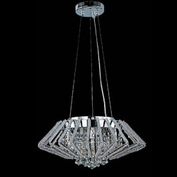 Diamond Shaped Stainless Steel Crystal Pendant Lights with 9 Lights