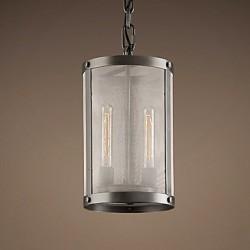 60W E27 2-light Pendent Light with Transparent Shade