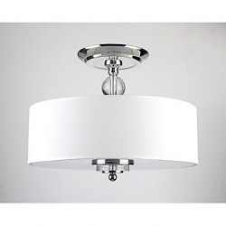 Elegant Crytal Flush Mount with 6 Lights in Cylinder Shade