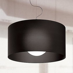 60W E27 Iron Pendent Light with Black Shade