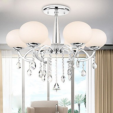 Max 40W Modern/Contemporary Crystal Electroplated Metal Chandeliers Living Room / Dining Room
