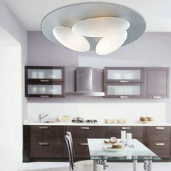 Nature-Inspired Minimalist Ceiling Light With 3 Eggs Shade