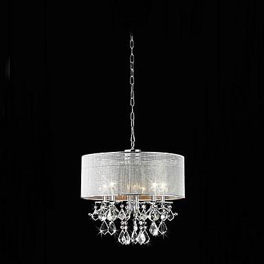 Modern 5 Light Crystal Pendant Lights