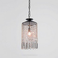 60W Modern/Contemporary Crystal Metal Pendant Lights Living Room