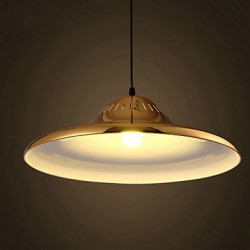 Country LED Gold Metal Pendant Lights Bedroom / Dining Room / Study Room/Office / Game Room / Hallway / Garage