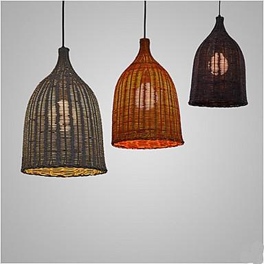 online store f63da 978a1 Rattan Chandelier Chandelier Chandelier Creative Personality Retro  Restaurant Rattan lamp