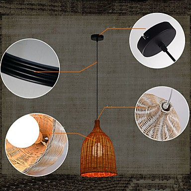 Lights & Lighting Ceiling Lights & Fans Rattan Lamp Chandelier Bedroom Dining Study Personality Of Classical Chinese New Retro Chandelier Chandelier