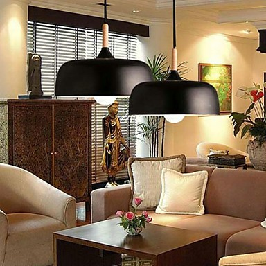 Country Led Painting Metal Pendant Lights Bedroom Dining Room