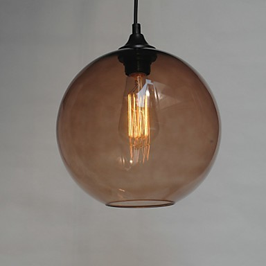 Modern glass pendant light in round brown bubble design lighting pop modern glass pendant light in round brown bubble design aloadofball Choice Image