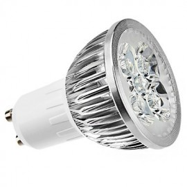 4W GU10 LED Spotlight MR16 4 High Power LED 360 lm Warm White Dimmable AC 220-240 V