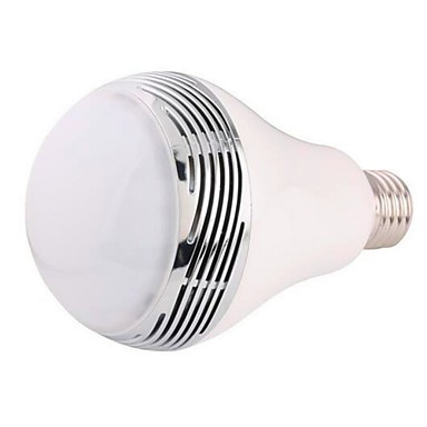 Wireless Bluetooth Intelligent Colorful Dimming LED Lights Mobile Phone APP  Control Speaker Bulb RGB