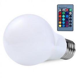 RGB 10W E27 Led Globe Light Bulb Lamp 16 Color Changering with 24Key Remote Control RGB Bulbs(AC85-265V)