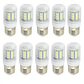 4W Clear Cover E27 LED Lamp 220V/110V AC or 12V/24V AC/DC 27 SMD 5730 280Lm Warm / Cool White (10 Pieces)