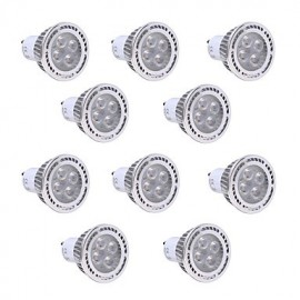 10Pcs GU10 4W SMD 3030 300-400 LM Warm White / Cool White LED Spotlight AC 85-265V