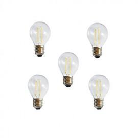 5pcs A60 2W E27 250LM 360 Degree Warm/Cool White Color Edison Filament Light LED Filament Lamp (AC85-265V)