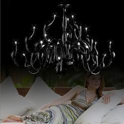 Modern Chandelier Light 24 Lights LED G4 Black Painting/ Bulb Included/ Living Room / Bedroom