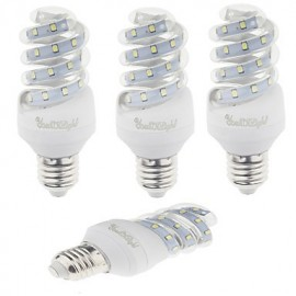4PCS E27 9W 800lm Warm White/White Light 23 SMD 2835 LED Corn Lamps (AC 220V)
