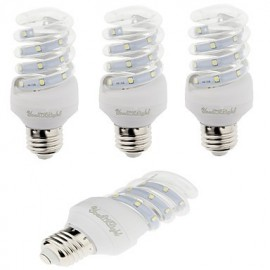 4PCS E27 5W 420lm Warm White/White Light 12 SMD 2835 LED Corn Lamps (AC 220V)