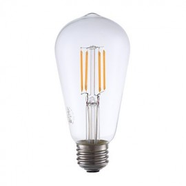3.5W E26 LED Filament Bulbs ST19 4 COB 325 lm Warm White Dimmable / Decorative AC 110-130 V 1 pcs