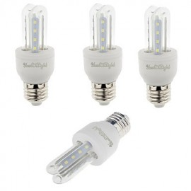 4PCS E27 3W 210lm Warm White/White Light 16 SMD 2835 LED Corn Lamps (AC 85-265V)