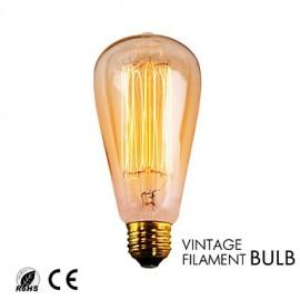 GMY 1PC ST64 13Molybdenum wire Vintage bulb 40W E26 Warm White AC120V Decorate bulb