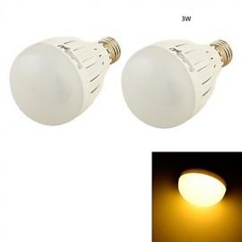 2PCS E27 3W 6*SMD5730 260LM Warm White Light LED Globe Bulbs (AC85-265V/110-120V/220-240V)