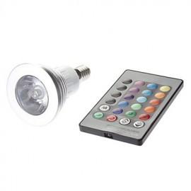 E14 3W 1 High Power LED 180 LM MR16 Remote-Controlled LED Spotlight AC 85-265 V