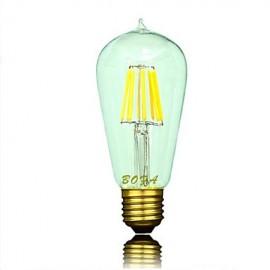E26 E27 110V 220V ST64 2200K-3000K 300-600lm 5W 6LED Light Bulb Edison