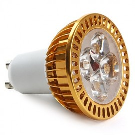 GU10 LED Spotlight MR16 4 High Power LED 360 lm Warm White AC 85-265 V