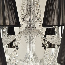 Elegant Crystal Chandelier with 12 Lights