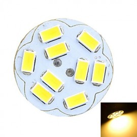 G4 2W 200lm 3500K/6500k 9x5730 LED Round Board Warm/Cool White Light Lamp (AC/DC12V)