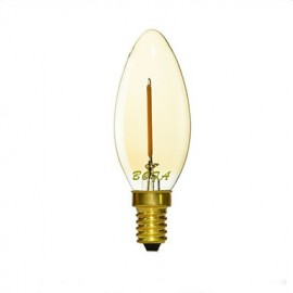 E12 E14 E26 E27 2200K-3000K 50-100Lm 110V 220V 1W 1LED Dimmable Retro Imitation Tungsten Filament LED Candle Light