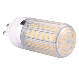 G9 15W 60x5730SMD 1500LM 2800-3200K /6000-6500K Warm White/Cool White Light LED Corn Bulb with Striped Cover (AC110/220V)