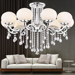 Chandelier Crystal Luxury Modern Living 9 Lights