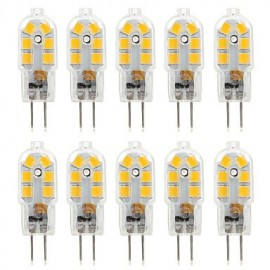 10pcs G4 4W 14*2835SMD 300-360LM Warm/Cool White T DC 10-12V/AC 220-240V