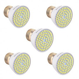 5Pcs E26/E27 GU5.3(MR16) GU10 72LED 7W LED 2835SMD 600-700Lm Warm White Cold White Natural White LED Spotlight (AC 110V/220V)